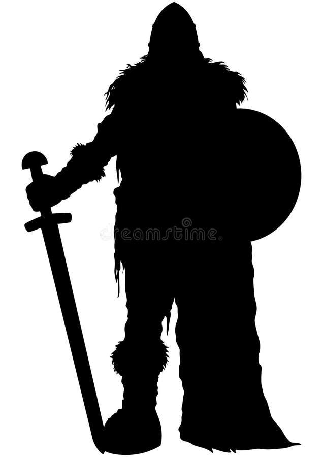 Siluetta del guardiano di Viking immagini stock libere da diritti