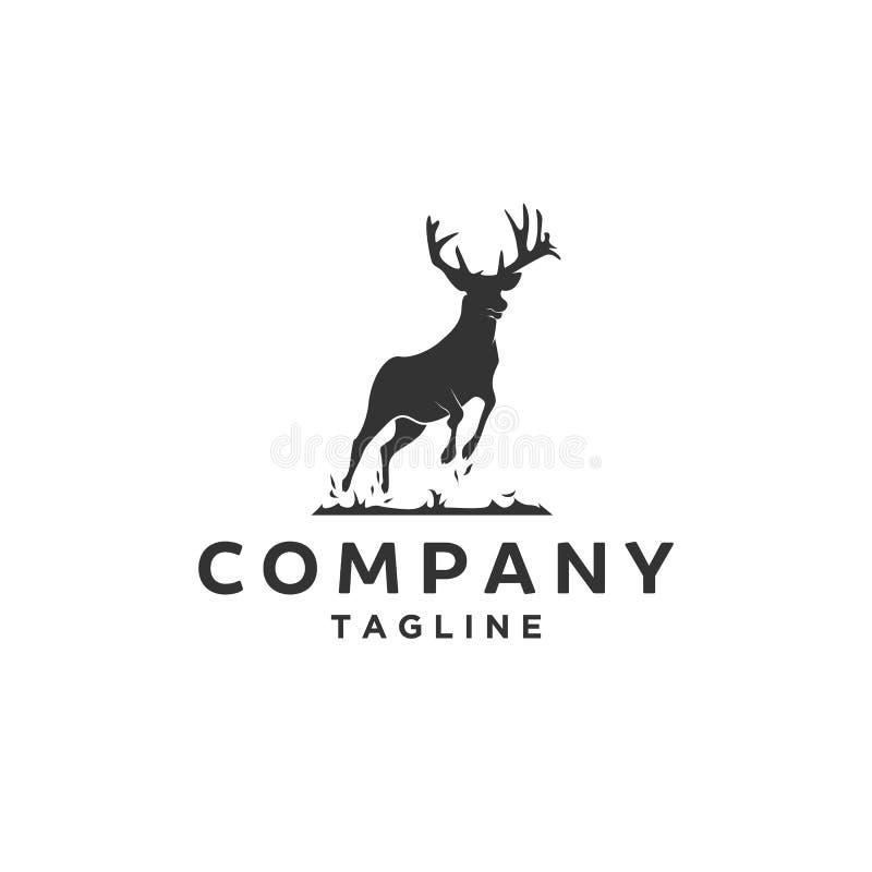 Siluetta del logo dei cervi royalty illustrazione gratis