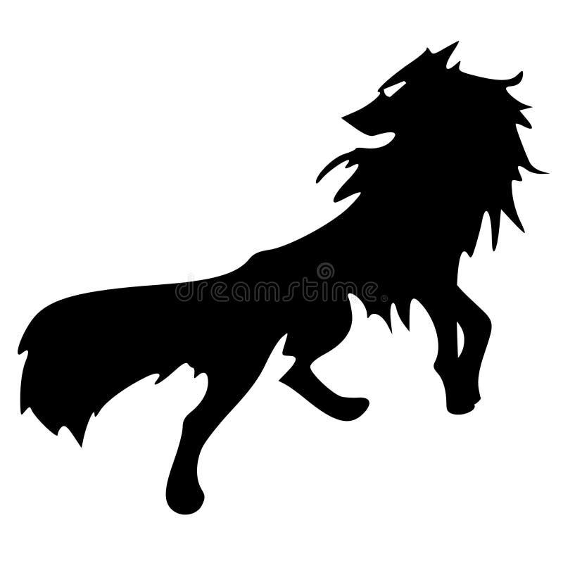 Siluetta del lupo illustrazione di stock