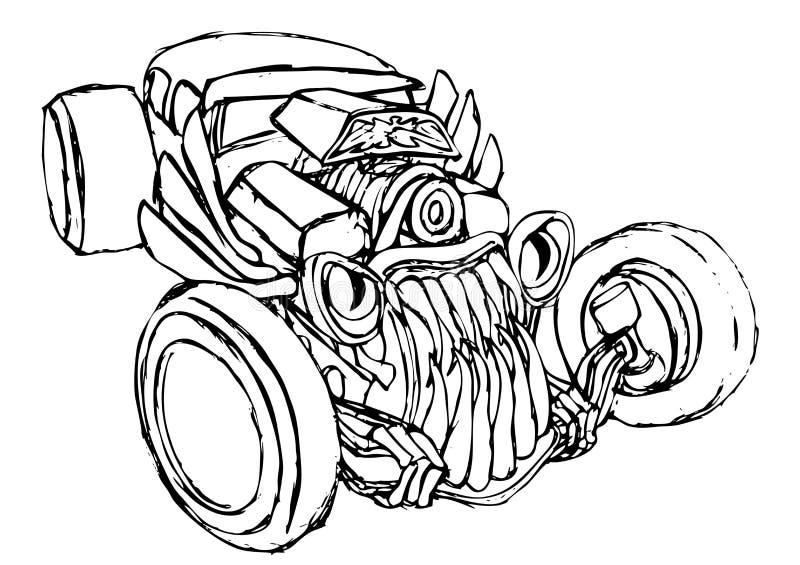 Siluetta del mostro di Hotrod royalty illustrazione gratis