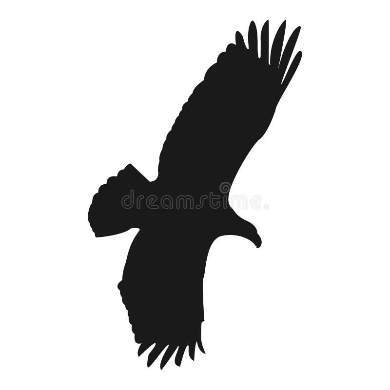 Siluetta del nero dell'illustrazione di vettore dell'aquila di volo illustrazione vettoriale