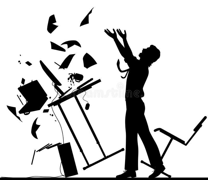 Siluetta del punto di rottura illustrazione di stock