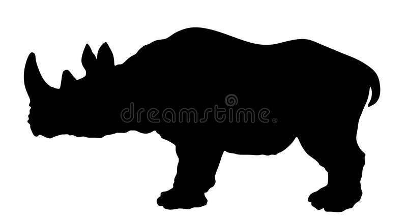Siluetta del rinoceronte