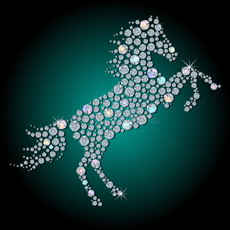 Cavallo del diamante illustrazione di stock