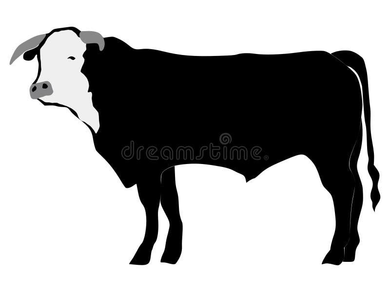 Siluetta del toro royalty illustrazione gratis