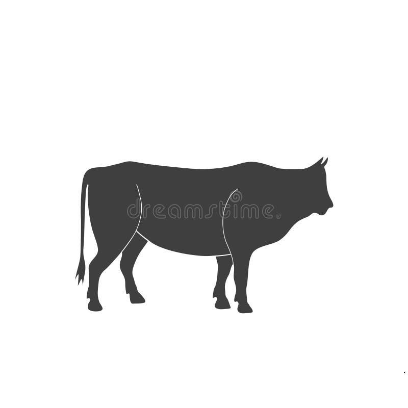 Siluetta del toro immagine stock libera da diritti