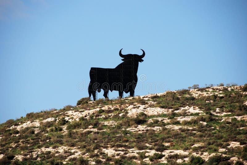 Siluetta del toro, Spagna immagine stock libera da diritti