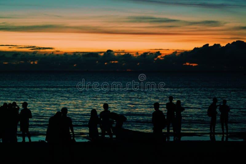 Siluetta del tramonto immagini stock