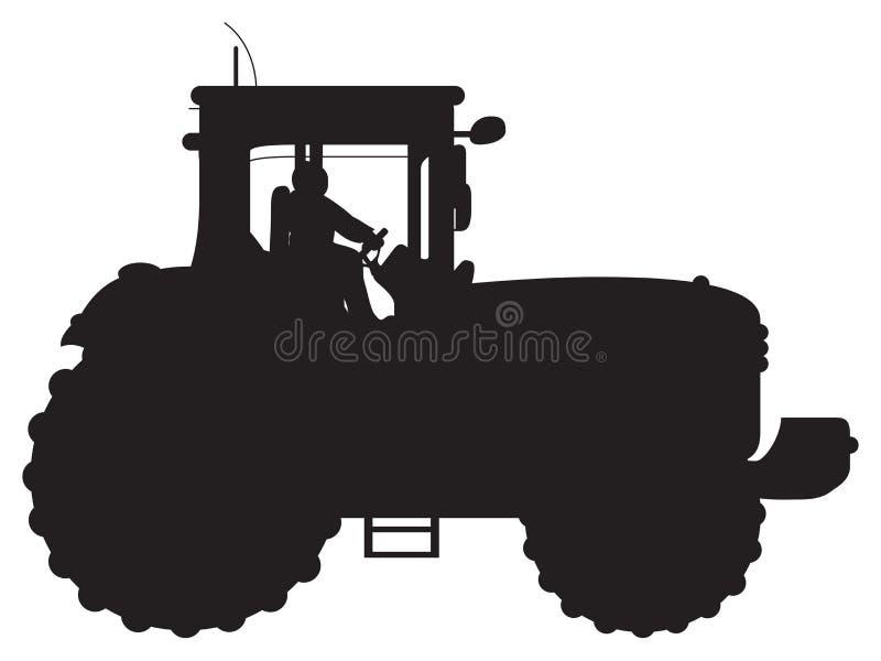 Siluetta del trattore illustrazione vettoriale