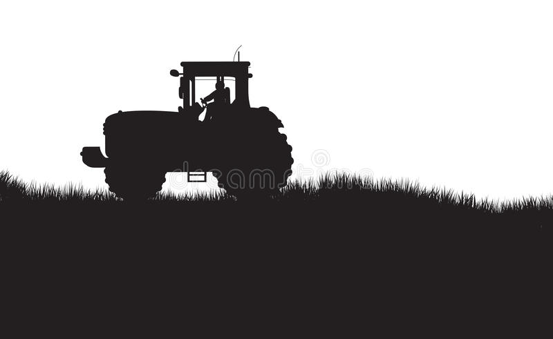 Siluetta del trattore illustrazione di stock