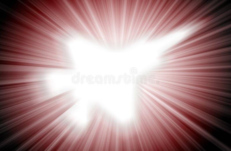 Siluetta dell'æreo a reazione, combattente moderno nel cielo royalty illustrazione gratis