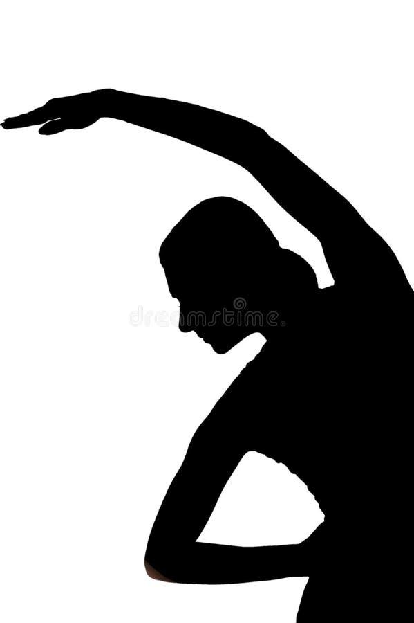 Siluetta dell'addestratore di forma fisica illustrazione di stock