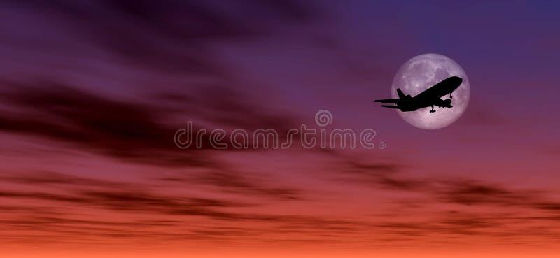 Siluetta dell'aeroplano illustrazione di stock