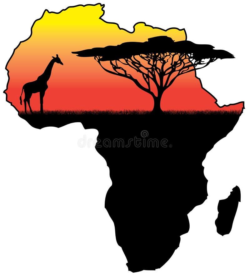 Siluetta dell'Africa illustrazione vettoriale