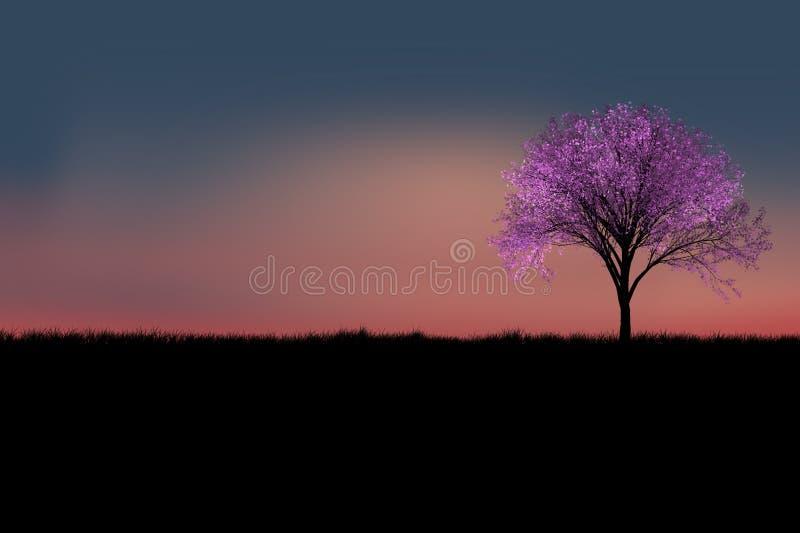 Siluetta dell'albero illustrazione vettoriale