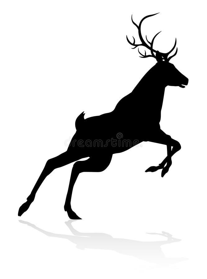 Siluetta dell'animale dei cervi royalty illustrazione gratis