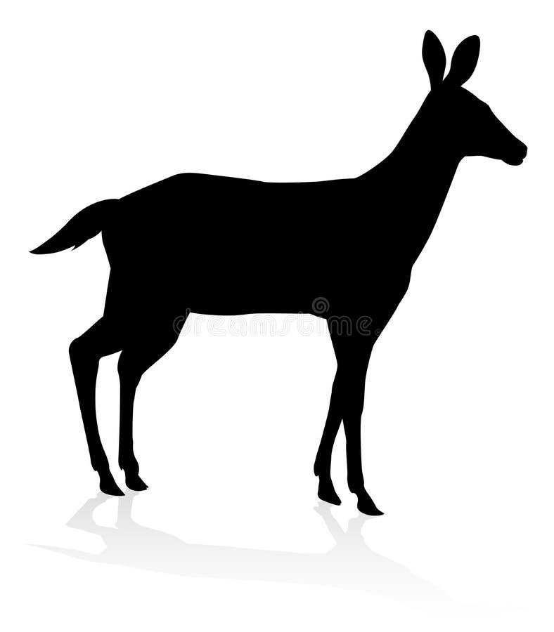 Siluetta dell'animale dei cervi illustrazione vettoriale