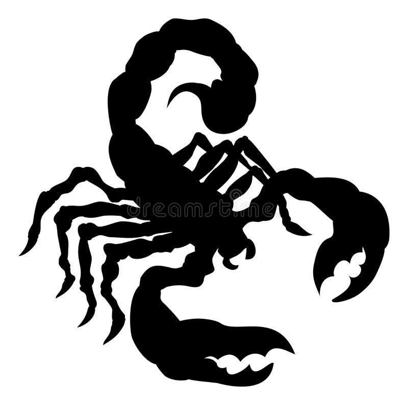 Siluetta dell'animale dello scorpione illustrazione di stock