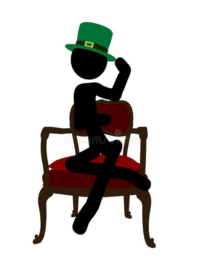 Siluetta Dell Illustrazione Di Stickman Di Giorno Della St Patricks Fotografia Stock