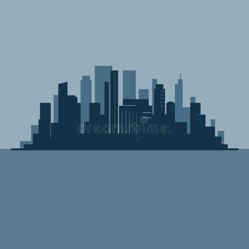 Siluetta dell'orizzonte della città illustrazione di stock