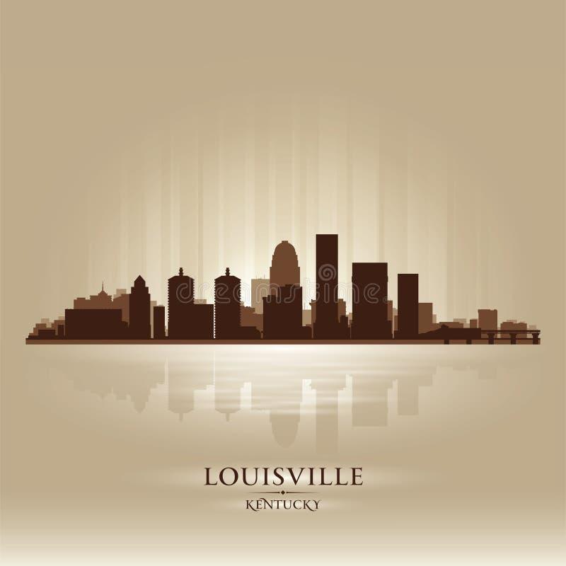 Siluetta dell'orizzonte della città di Louisville Kentucky illustrazione vettoriale
