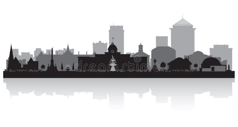 Siluetta dell'orizzonte della città di Montgomery Alabama royalty illustrazione gratis