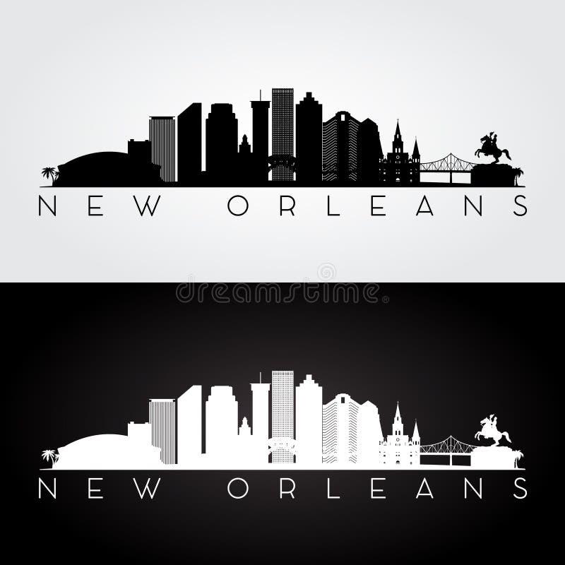 Siluetta dell'orizzonte di New Orleans illustrazione di stock