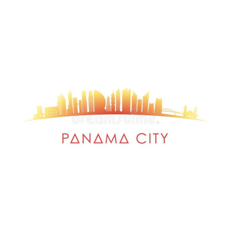 Siluetta dell'orizzonte di Panamá illustrazione vettoriale