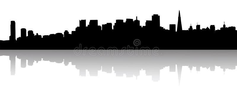 Siluetta dell'orizzonte di San Francisco illustrazione vettoriale