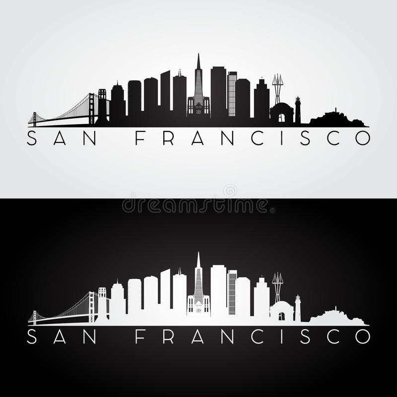 Siluetta dell'orizzonte di San Francisco royalty illustrazione gratis