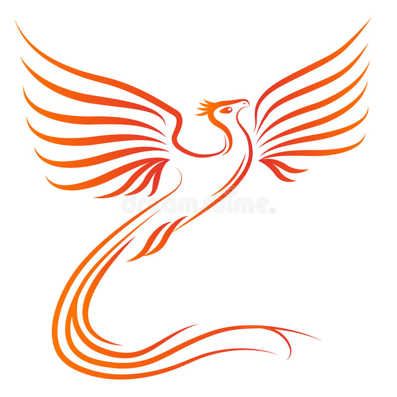 Siluetta dell'uccello di Phoenix illustrazione vettoriale