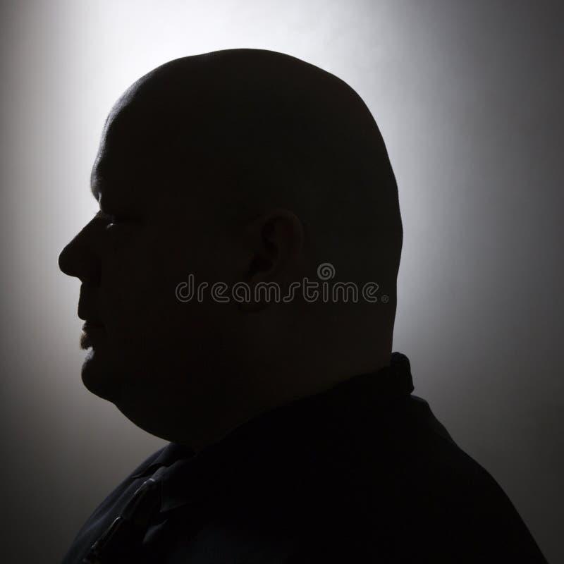 Siluetta dell'uomo calvo. immagine stock libera da diritti