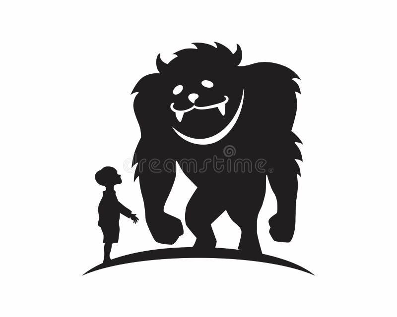 Siluetta della bestia del mostro illustrazione vettoriale