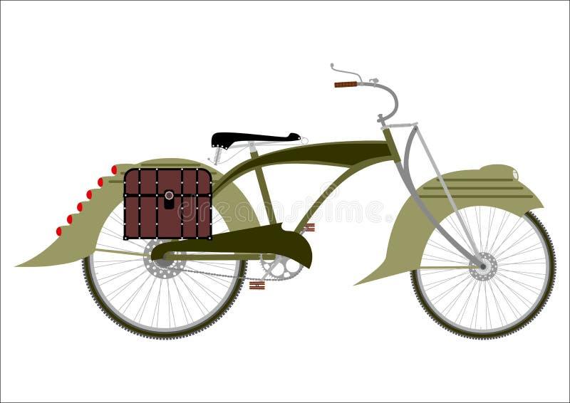 Siluetta della bicicletta di Steampunk illustrazione vettoriale