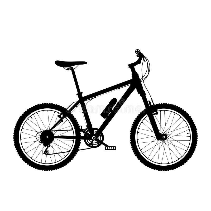 Siluetta della bicicletta della montagna illustrazione vettoriale