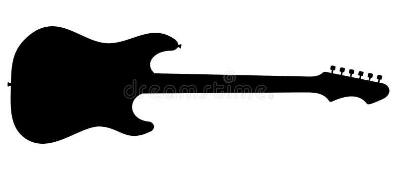 Siluetta della chitarra royalty illustrazione gratis