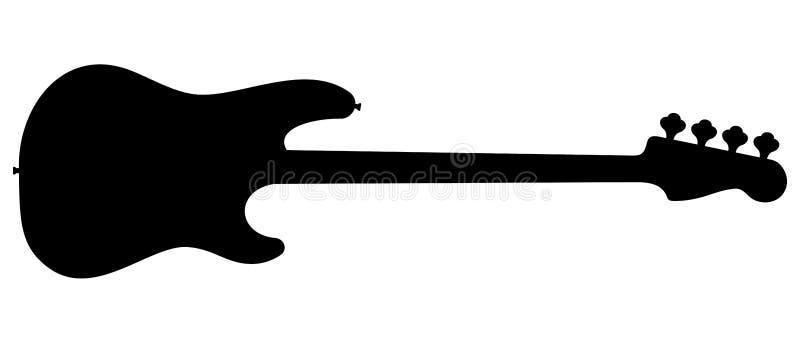 Siluetta della chitarra illustrazione vettoriale