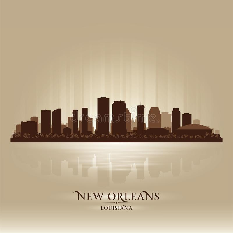 Siluetta della città dell'orizzonte di New Orleans Luisiana illustrazione vettoriale