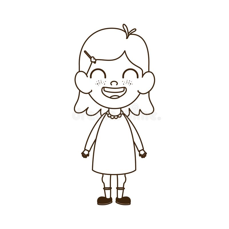 Siluetta Della Condizione Della Neonata Che Sorride Sul Fondo Bianco Illustrazione Vettoriale Illustrazione Di Disegno Bambino 151826098