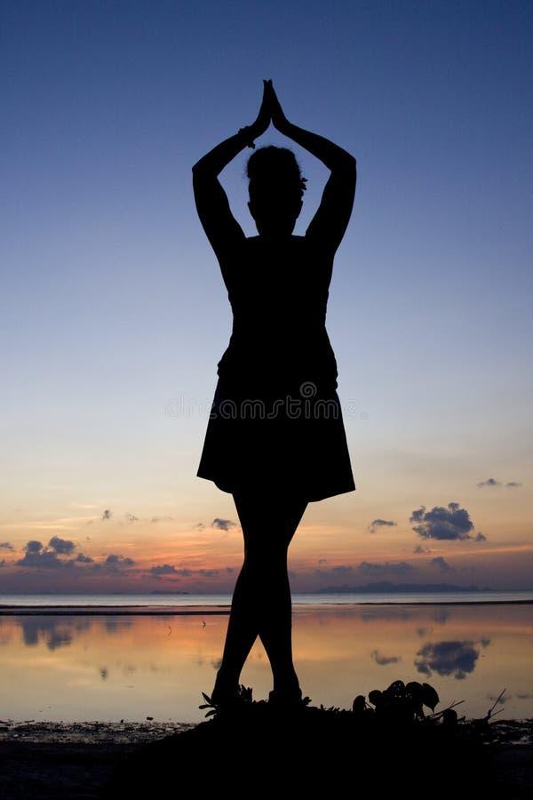 Siluetta della donna fotografie stock libere da diritti