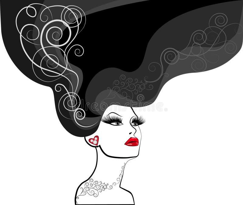Siluetta della donna illustrazione di stock