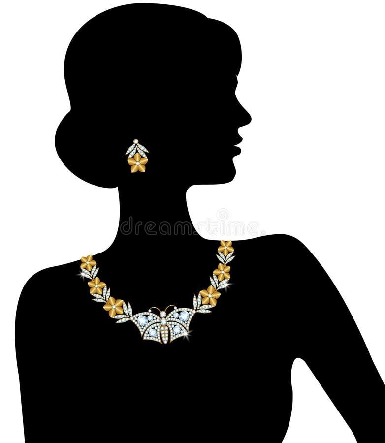 Siluetta della donna royalty illustrazione gratis