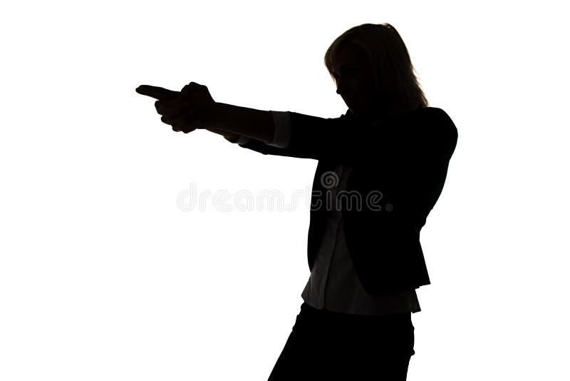 Siluetta della donna dell'agente segreto immagine stock