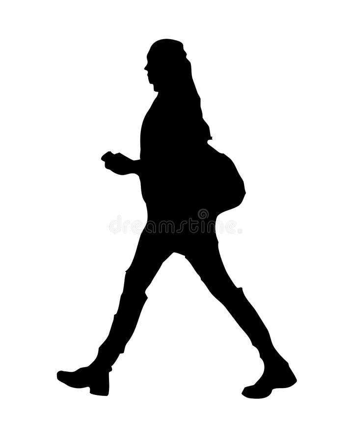 Siluetta della donna di camminata royalty illustrazione gratis