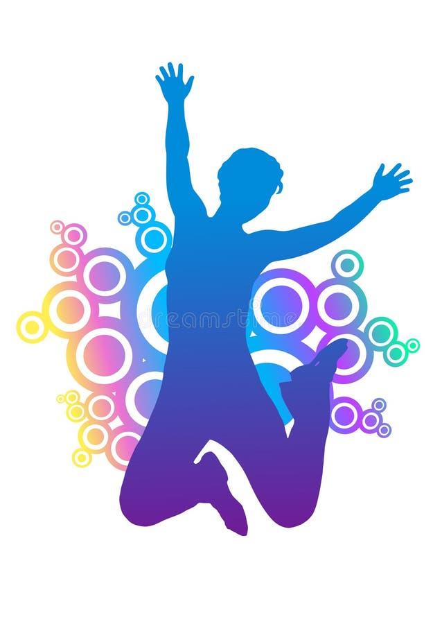 Siluetta della donna di salto. royalty illustrazione gratis