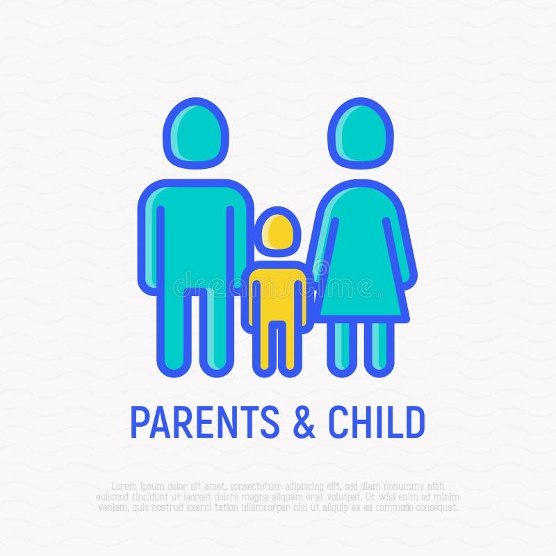 Siluetta della famiglia: uomo, donna e bambino royalty illustrazione gratis