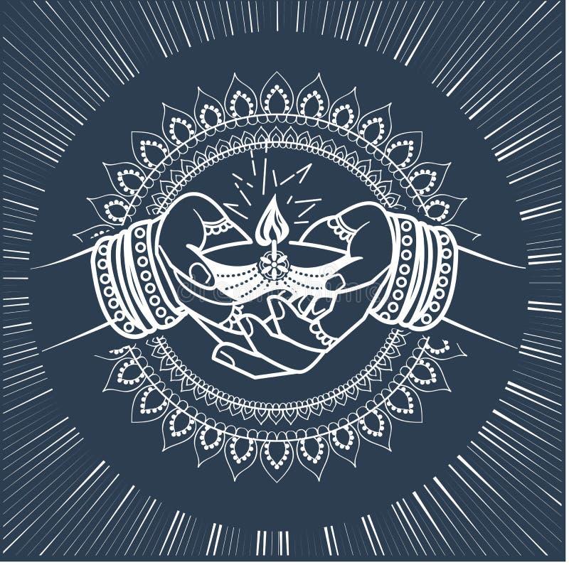 Siluetta della festa indiana royalty illustrazione gratis