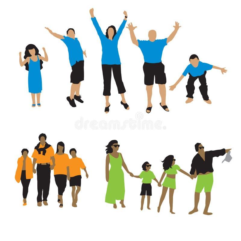 Siluetta della gente: famiglia 3 illustrazione vettoriale