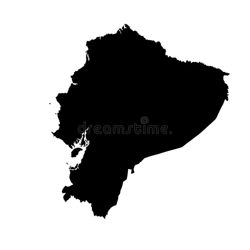 Siluetta della mappa dell'Ecuador illustrazione di stock