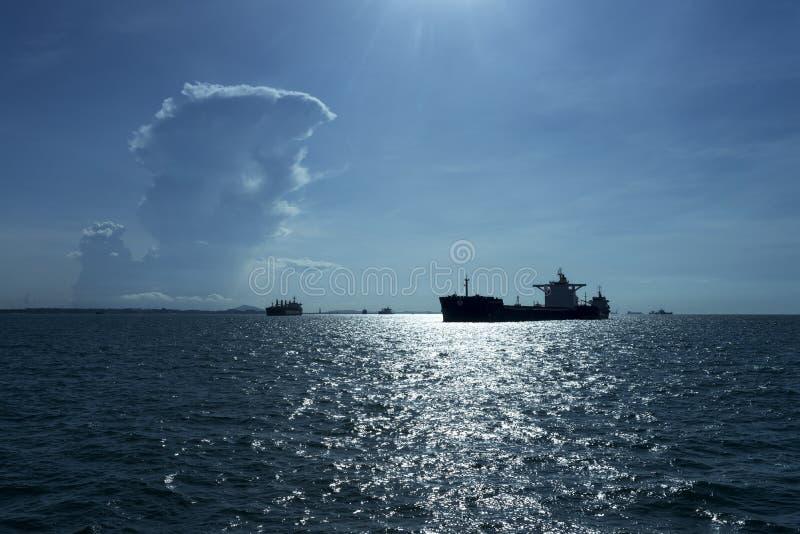 Siluetta della nave immagine stock libera da diritti